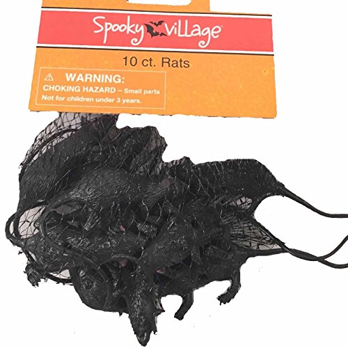 Spooky Village Halloween Rats Party Favors - 10