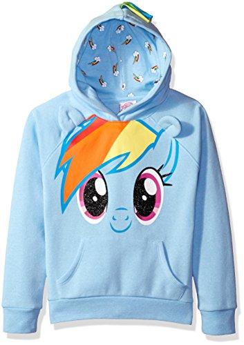 My Little Pony Rainbow Dash Hoodie (My Little Pony Big Girls' Dash Rainbow Cosplay Hoodie, Blue, M7/8)