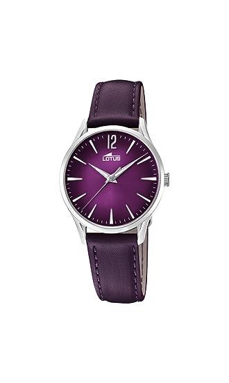 7509706d71c6 Lotus Watches Reloj Análogo clásico para Mujer de Cuarzo con Correa en  Cuero 18406 6  Lotus  Amazon.es  Relojes