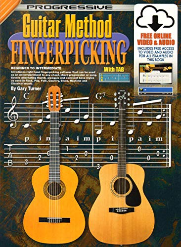 Online Guitar Tuner - 69071 - Progressive Guitar Method - Fingerpicking - Book/Online Video & Audio
