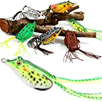 TROUTBOY Frog Fishing Lure, Hollow Body Frog Topwater...