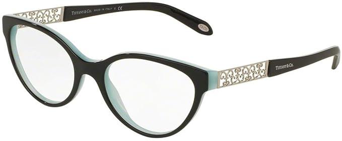 7d5c4581fc91 Amazon.com  Tiffany Optical 0TF2129 Full Rim Oval Woman Sunglasses  Clothing