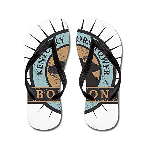 Cafepress Kentucky Horsepower - Bourbon - Flip Flops, Grappige String Sandalen, Strand Sandalen Zwart