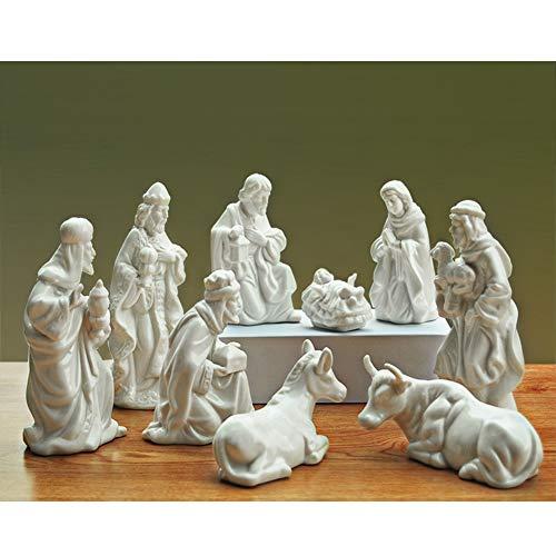 Exblue Holiday Nativity Set, 7-Inch Nativity Scene Figure for Kids - Christmas Figurine Indoor or Outdoor, 9PCS -