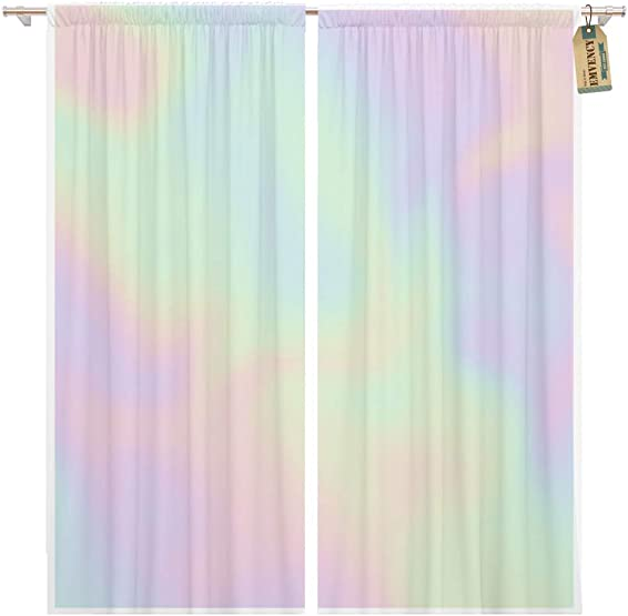 Golee Window Curtain Colorful Iridescent Holographic Pearlescent