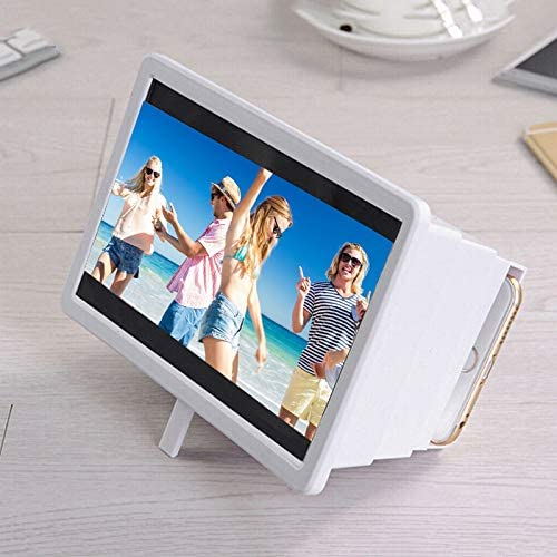 Compatible All Smartphones 8 Inch HD Anti-Radiation Screen Amplifier Enlarged Expander Stand for Movie 3D Foldable Universal Screen Amplifier,Portable Retractable Phone Screen Magnifier Projector
