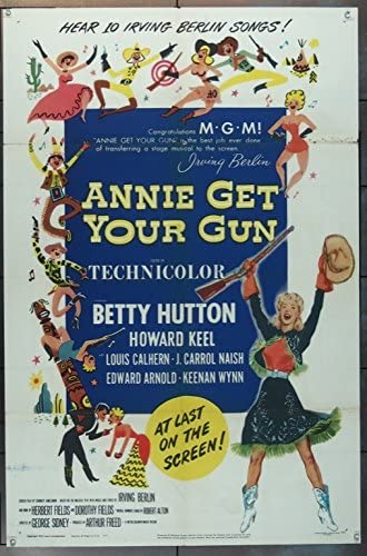 Annie Get Your Gun (1950) Original MGM One-sheet Movie Poster (27x41) Fine  Plus Condition at Amazon's Entertainment Collectibles Store