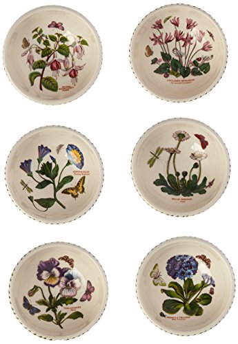 Portmeirion Botanic Garden Individual Fruit Salad Bowls, Set of 6 Assorted Motifs