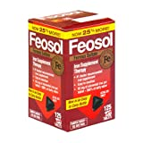 Feosol Ferrous Sulfate Iron Supplement Therapy, Tablets - 125 ea (Pack of 2)