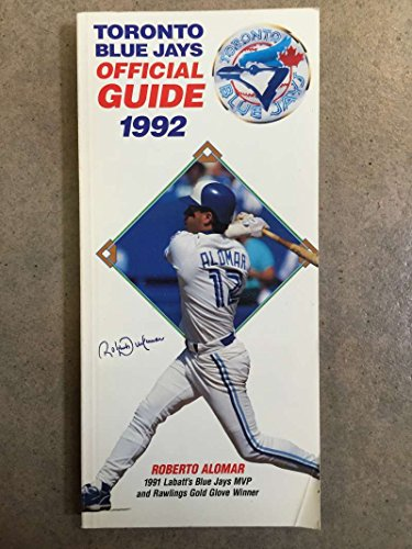 TORONTO BLUE JAYS MLB BASEBALL MEDIA GUIDE ROSTER 1992 - JOE CARTER EX+/NM