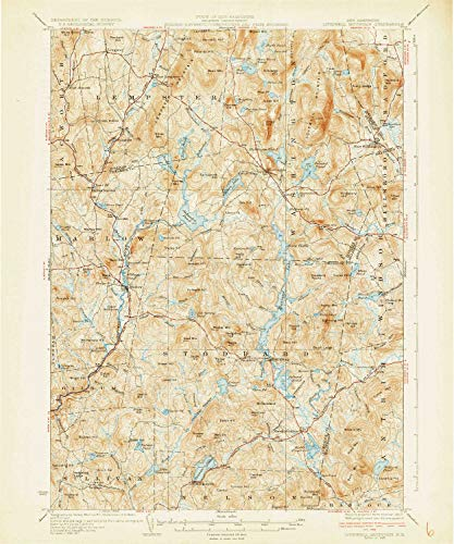 Rollstone Hill (YellowMaps Lovewell Mountain NH topo map, 1:62500 Scale, 15 X 15 Minute, Historical, 1930, 19.8 x 16.5 in - Tyvek)