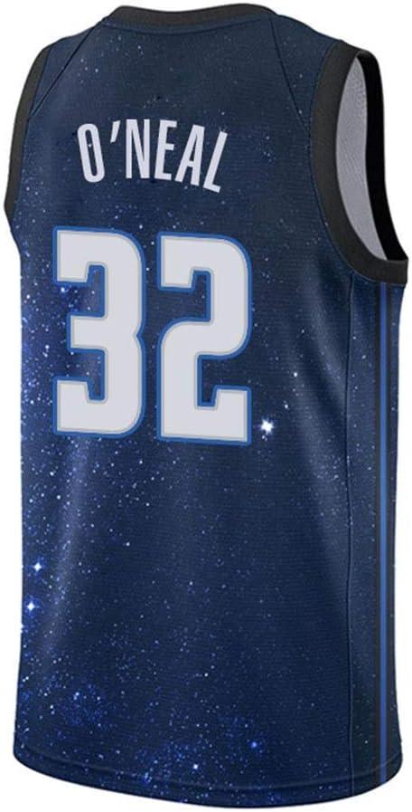 LLYLL Maillot De Basket-Ball pour Hommes Shaquille Oneal # 32 Orlando Magic New Fabric Swinger Jersey De Basket-Ball Brod/é sans Manches,Bleu,L:180cm//75~85kg