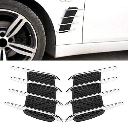 Black Cuque Air Flow Intake Scoop 1 Pair Auto DIY Car Air Flow Intake Scoop Decorative Cover ABS Electroplate Universal