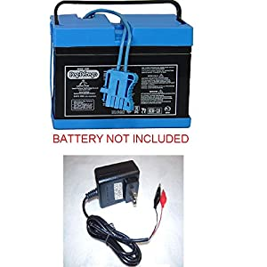 12V Clip Charger for Peg Perego John Deere Gator Deer Razor RZR Fiat Ducati Monster Bike Gaucho Grande Case Tractor Polaris Outlaw by pure power adapters