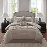 Home Essence Austin 5 Piece Comforter Set Taupe Full/Queen