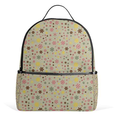 Fashion Backpack Chunky Snowflakes Colorful Daypacks Shoulder Bag Rucksack For Girls