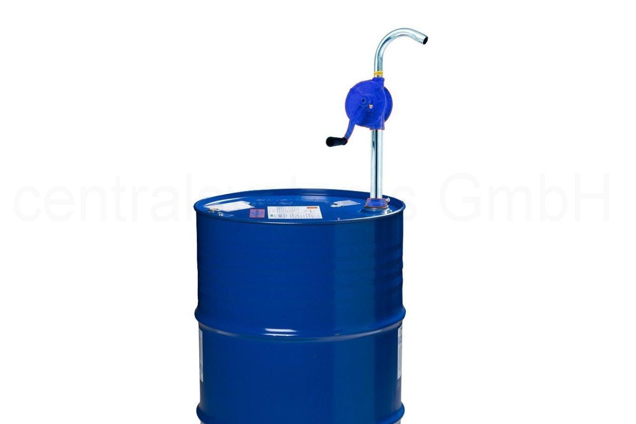 Fasspumpe mit Kurbel - ÖL Diesel Wasser Fass Handpumpe - Tonnen Kurbel Pumpe centralsystems GmbH