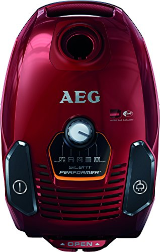 AEG ASP7120 Silent Performer All Floor Bagged Cylinder Vacuum Cleaner, 700 W - Watermelon Red