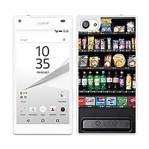 Funda carcasa para Sony Xperia Z5 Compact diseño máquina expendedora borde blanco