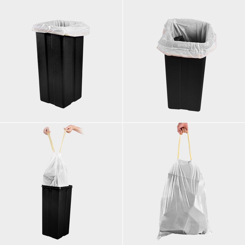 Trash Bags, Meidong Garbage Bags 13 Gallon Large Tall Kitchen ...