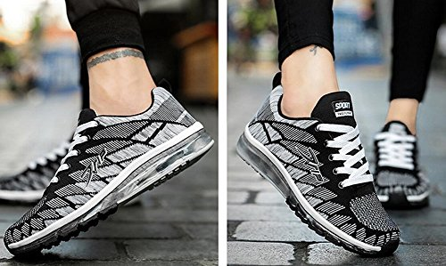 Running Cushion Fashion Men's Shoes Black Full Palm JiYe Women's Sneakers 1EqwqZ