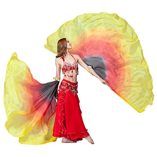 Stage Performance Props Half Circle Hand Belly Dance Silk...