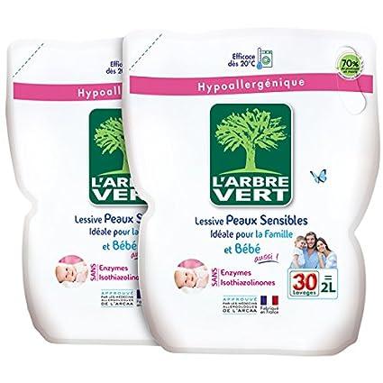 El árbol verde Detergente líquido, recarga, para piel sensible y la ...