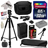 Must Have Accessory Kit for Canon PowerShot G1X G16 G15 SX50HS SX40HS SX50 SX40 HS Digital Camera Includes 32GB High-Speed SDHC Card + Card Reader + Opteka NB-10L 1800mAh Ultra High Capacity Li-ion Battery Pack + Rapid Charger + Deluxe Padded Carrying Case + Professional 60' Tripod + Lens Cleaning Kit including LCD Screen Protectors Photo Print