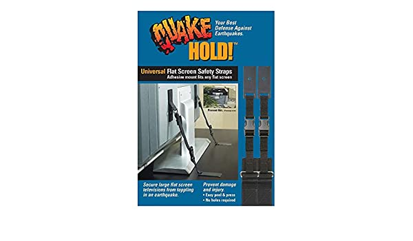 QuakeHOLD! 4520 Universal Flat Screen Safety Straps: Amazon.es: Bricolaje y herramientas