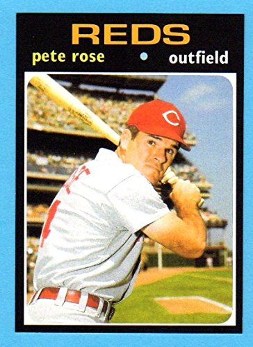 Pete Rose 1971 Topps Reprint Card (Batting Left handed) (Cincinnati)