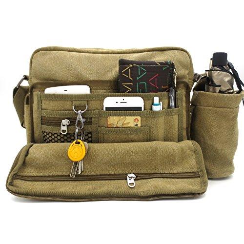 Messenger Shoulder Purse Bag Canvas Multifunctional Mens Womens Crossbody  Handbag Travel Purse Change Packet Lots Pockets - Buy Online in UAE. 6ad6b31e5b62b