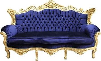 Casa Padrino Barock Sofa Master Royal Blau/Gold - Wohnzimmer Möbel ...