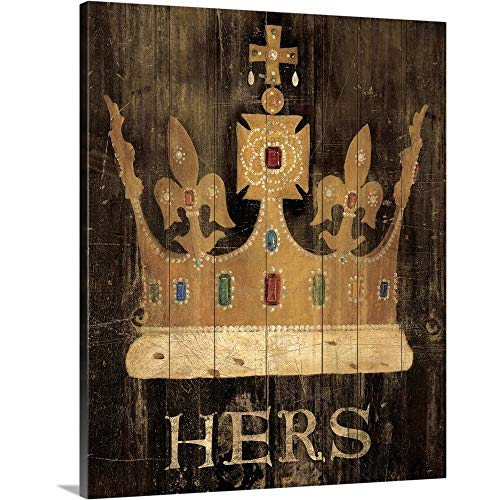 Her Majesty's Crown with Word Canvas Wall Art Print, 16