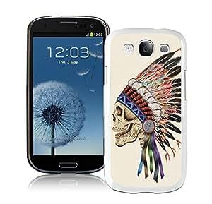 BINGO classic Death Skeleton Samsung Galaxy S3 i9300 Case White Cover