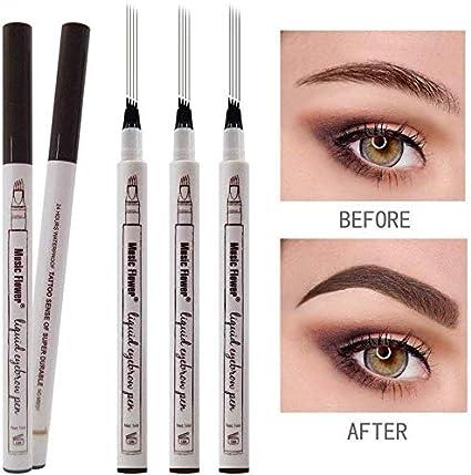Tattoo Liquid Eyebrow Pencil con cuatro puntas de tenedor ...