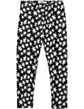 Replay Girls Black Jaquard Trousers With Stars in Size 14 Years Black