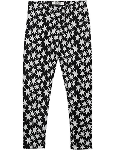 Replay Girls Black Jaquard Trousers With Stars in Size 14 Years Black by Replay