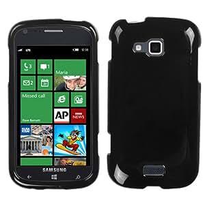 SAMSUNG i930(ATIV Odyssey) Snap On Hard Case Cover Plain Glossy Solid Black MYBAT