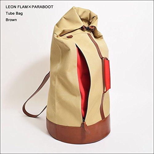 (レオンフラム×パラブーツ) LEON FLAM×PARABOOT Tube Bag Brown バックパック リュック B01J0H3P78