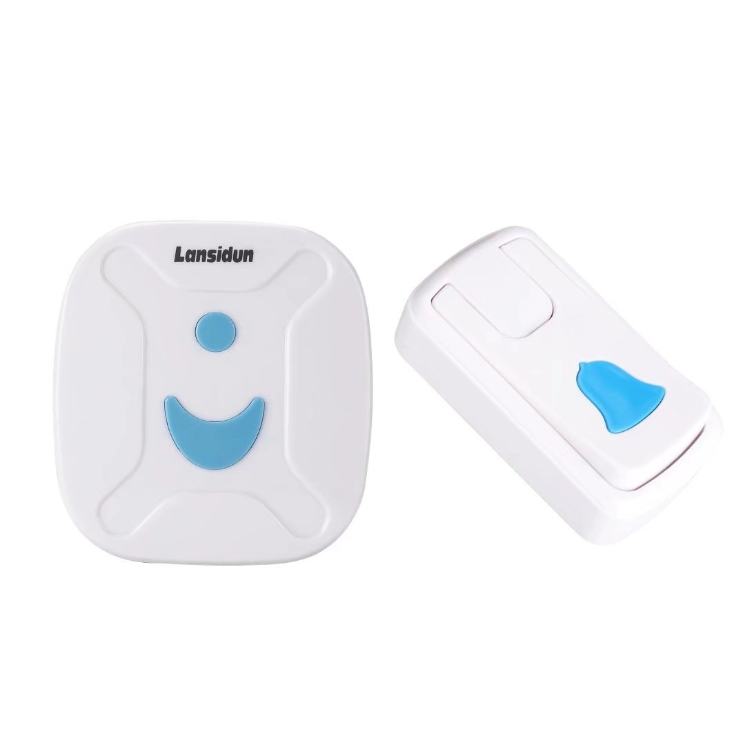 Lansidun Doorbell Wireless No Battery Waterproof Door Chime kit for Home with 1 Transmitter and 1 Receiver Operating at 165 Feet, Adjustable Volume