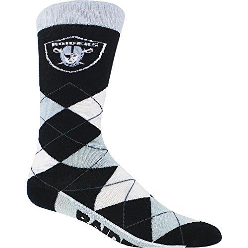 NFL Oakland Raiders Argyle Unisex Crew Cut Socks - One Size Fits Most