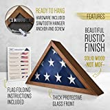 HBCY Creations Rustic Flag Case - Solid Wood