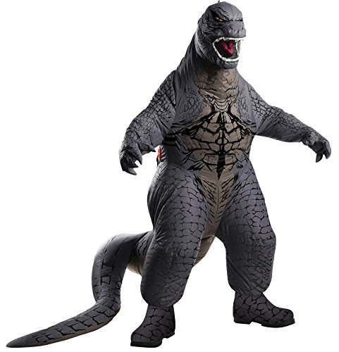 UHC Boy's Inflatable Godzilla Jumpsuit Movie Theme Child Halloween Costume, Child (Up to 12)