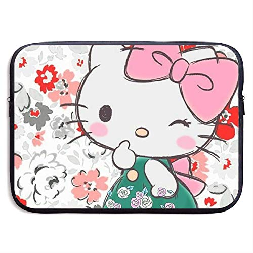 Laptop Sleeve Case Bag Cover Cute Hello Kitty Notebook Tablet Bag for 13-15 Inch MacBook Pro/MacBook Air/Notebook Computer -