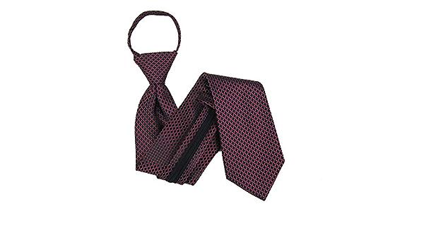 B-U-ZIP-10073 Boys 3-8 years old Black Zipper Tie Red
