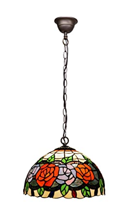 Lámparas de Techo Estilo Tiffany : Colección ROSY de 30x28 ...