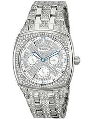 Bulova Men's 96C002  Swarovski Crystal Stainless Steel Watch