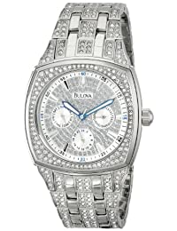 Bulova Men's 96C002 Crystal Day-Date Watch