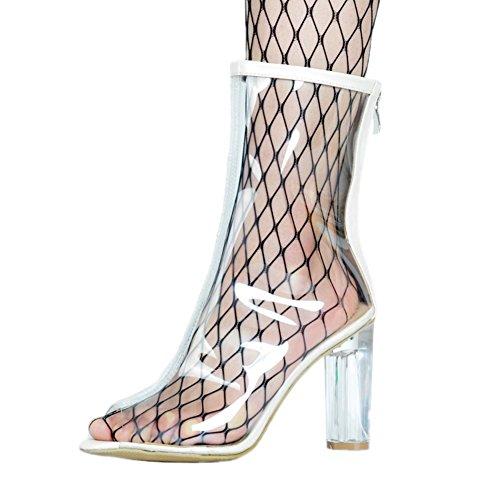 Kolnoo - Pantuflas de caña alta Mujer transparente