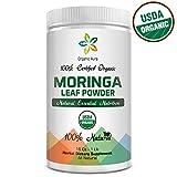 Organic Aura Moringa Leaf Powder, 16Oz - 1Lb (454 gms)